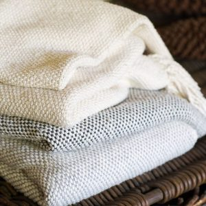 Cotton thick weave blanket